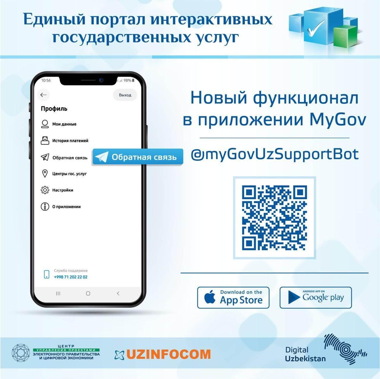 Телеграм-бот единого портала интерактивных государственных услуг